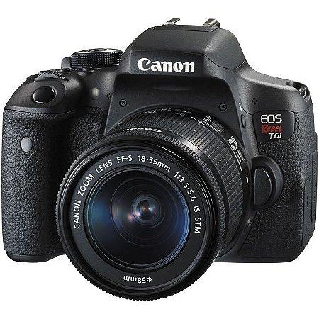 Câmera Canon EOS Rebel T6i DSLR com lente 18-55mm
