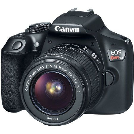 Canon EOS Rebel T6 DSLR com lente 18-55mm