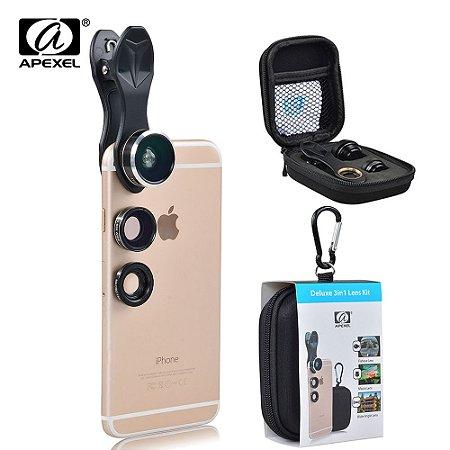 Kit lente 3 em 1 para Smartphone APL-G3H