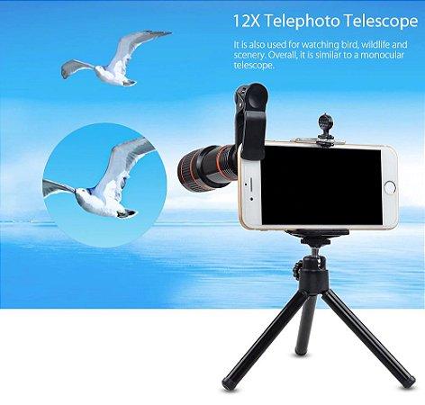 kIT Lentes 4 em 1 para Smartphone APL-HS12XDG3Zj