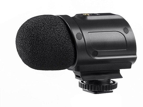 Saramonic SR-PMIC2 Microfone Condensador Estéreo Mini