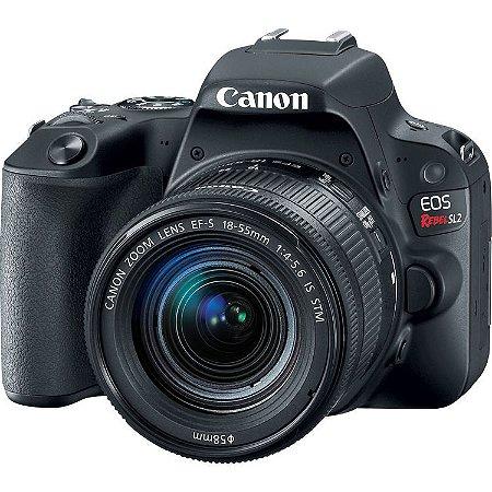 Câmera DSLR Canon EOS Rebel SL2 com Lente 18-55mm (Preto)