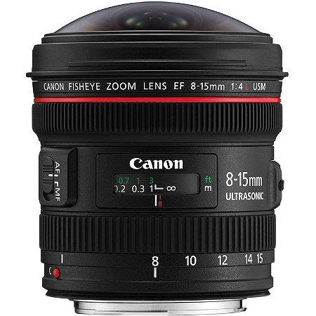Canon EF Lente Fisheye USM 8-15mm f / 4L