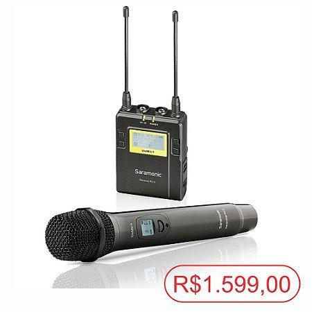 Microfone de mão sem fio Saramonic UwMic9 (Kit RX9 + HU9) - Seminovo
