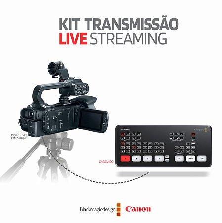 Kit Transmissão Live Streaming Filmadora XA11 + ATEM Mini