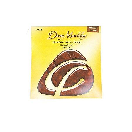 Encordoamento Dean Markley Vintage Bronze Acústico Sig 2006
