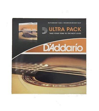 Encordoamento Violão Daddario Bronze EJ900+Phosphor EJ15
