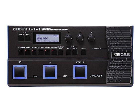 Pedaleira Boss Gt1 Multiefeitos P/ Guitarra Gt-1