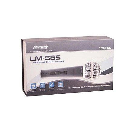 Microfone Lexsen Com Fio Cardioide Lm58s C/CHAVE LIG DESL