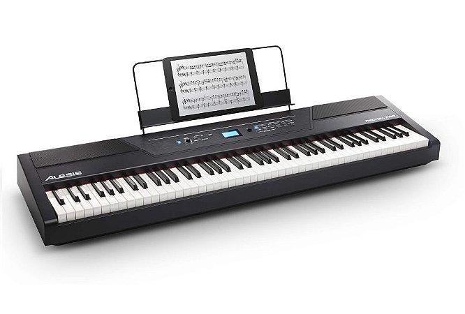Piano Digital Alesis 88 Teclas semi-pesadas Recital Pro