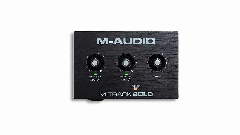 INTERFACE DE AUDIO M-Audio M-Track Solo 2CH C/ PHANTOM PWR