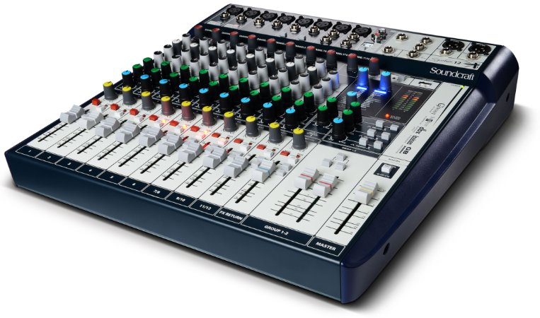 Mesa de Som Soundcraft Signature 12 - 12 Canais