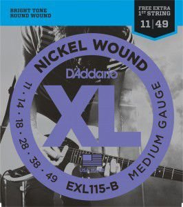 ENCORDOAMENTO DADDARIO GUITARRA EXL115-B+PL011
