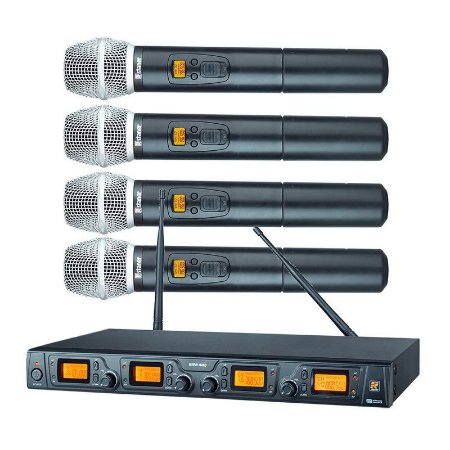 MICROFONE STANER MODELO SRW48Q/HT-48 QUADRUPLO