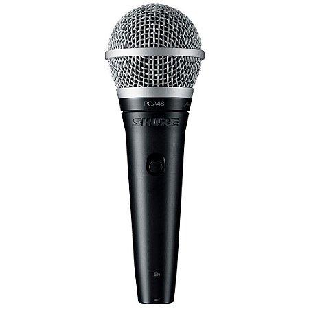 MICROFONE SHURE VOCAL PGA48-LC