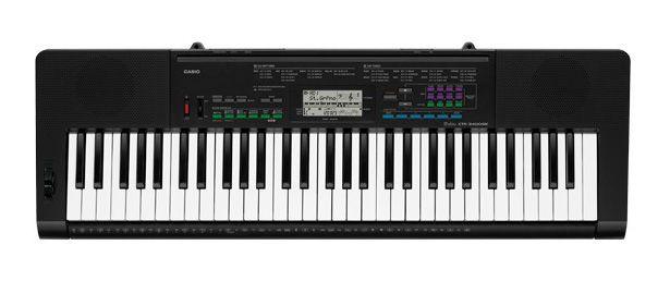 TECLADO MUSICAL CASIO BASICO DIGITAL PRETO MODELO CTK-3400SKK2-BR