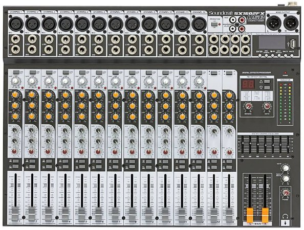 MESA DE SOM SOUNDCRAFT SX1602FX-USB
