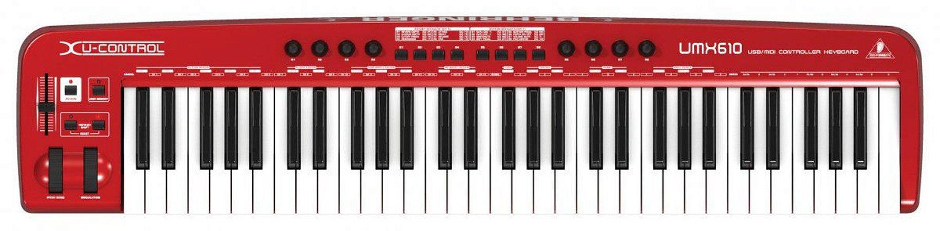 CONTROLADOR BEHRINGER USB/MIDI UMX610 -Nr Serie: S180801421A1K / S180801424A1K /