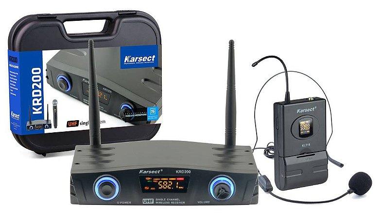 MICROFONE S/FIO KARSECT KRD200SH SINGLE HEADSET