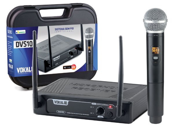 MICROFONE S/FIO VOKAL DVS100SH SINGLE HEADSET