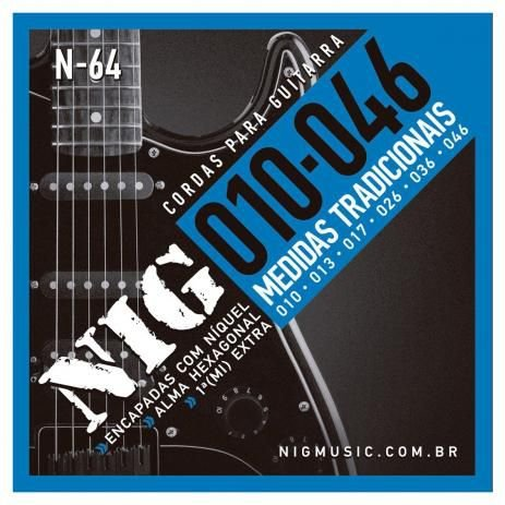ENCORDOAMENTO  NIG GUITARRA.010/.046 TRADICIONAL