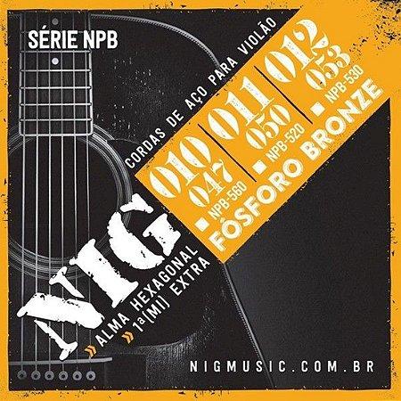 ENCORDOAMENTO  NIG P/VIOLAO ACO FOSFORO BRONZE 010