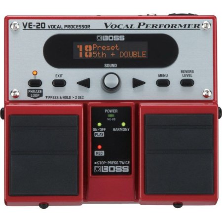PEDAL BOSS VE-20 VOCAL PROCESSOR