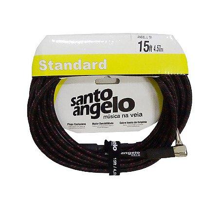 CABO SANTO ANGELO GUITARRA  0,50MM CONECTOR P10/P10 5 METROS