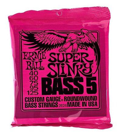 ENCORD. ERNIE BALL P/ BAIXO 5 CORDAS 040-125 SUP SLINKY 2824