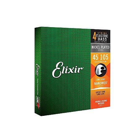 ENCORDOAMENTO 4 CORDAS ELIXIR BAIXO 045 4 MEDIUM E.L.S 14087