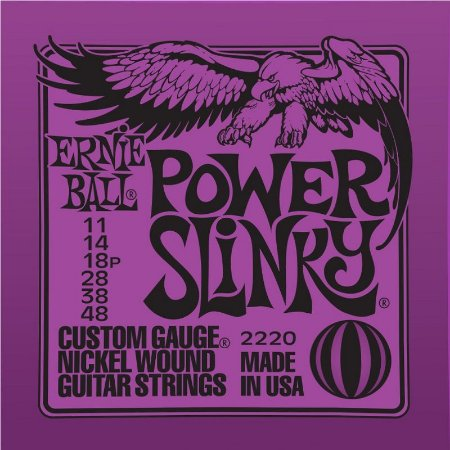 ENCORDOAMENTO CORDA ERNIE BALL GUITAR 011 POWER SLINKY 2220