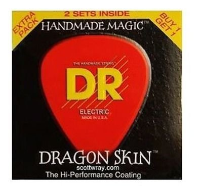 ENCORD.DR DRAGON SKIN GUITARRA 009 PCT C/ 2 DSE2-9