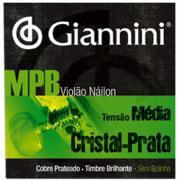 ENCORDOAMENTO P/ VIOLAO NAILON GIANNINI GENWS Cristal/prata