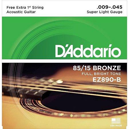 ENCORD.DADDARIO VIOLAO AC EZ890-B+PL009