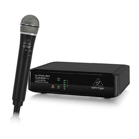 Microfone Behringer S/ Fio Ulm300mic 2.4 Ghz 2 Anos Garantia