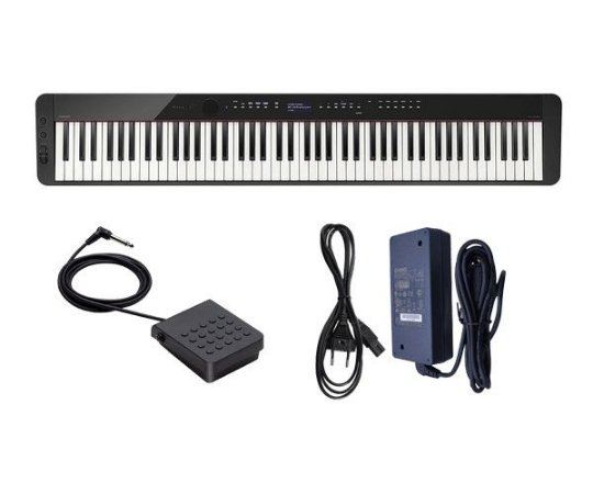 PIANO CASIO PRIVIA DIGITAL PRETO PX S3000 PEDAL + FONTE