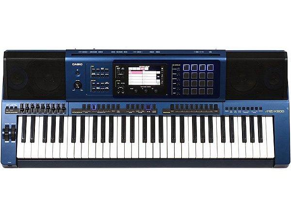 Teclado Casio Digital MzX500 k Arranjador Azul