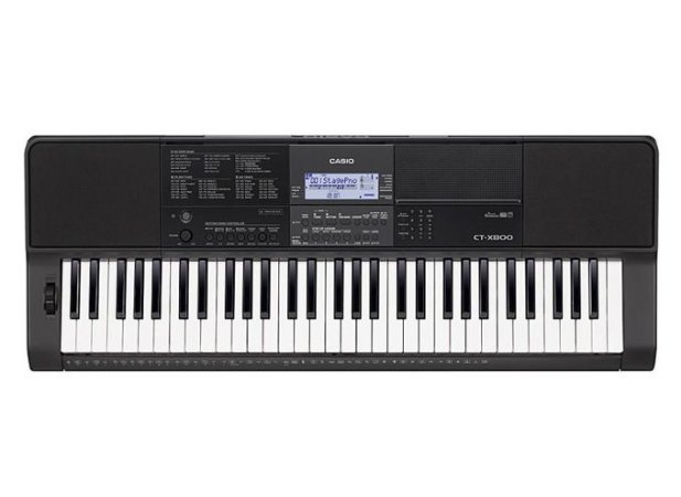 Teclado Casio Ct X800 Digital 61 Teclas Sensitivas + Fonte