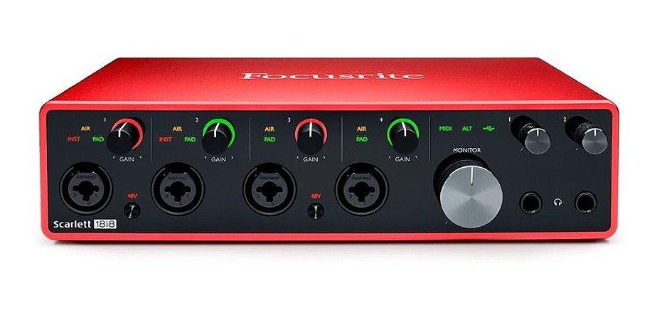 Interface De Audio Focusrite Scarlet 18i8 Usb - 3rd Gen