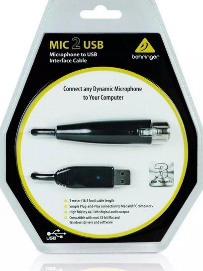 Interface De Audio Behringer - Mic 2 Usb