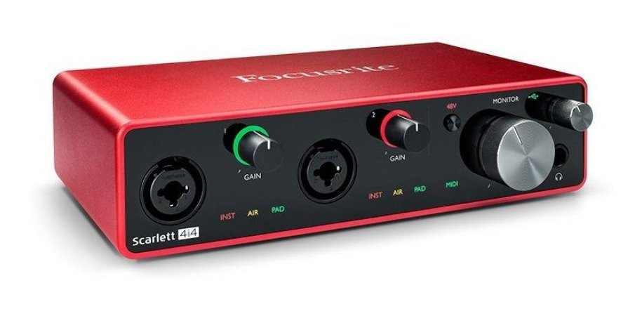 Interface De Audio Focusrite Scarlett 4i4 - 3 Geracao