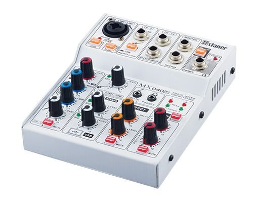 Mesa De Som Staner 4 canais Mx0402 - Usb Interface