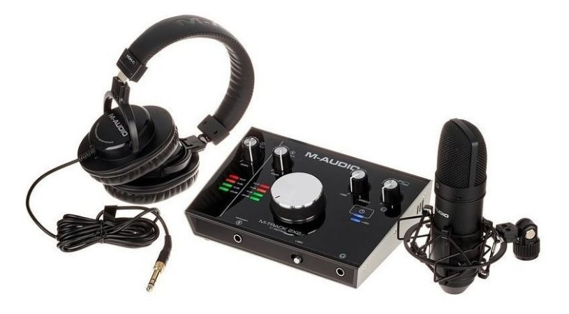 Interface M-audio M-track2x2 C/ Fone E Mic