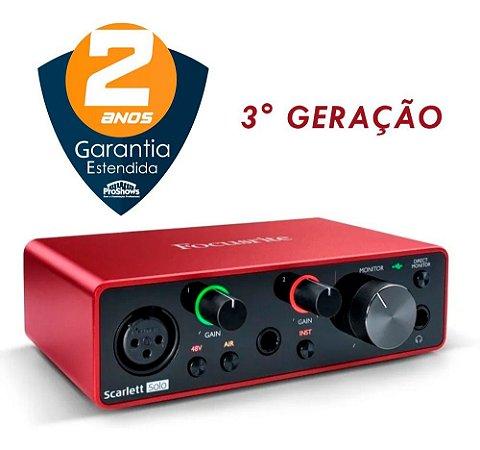 Interface De Audio Focusrite Scarlett Solo - 3 Geracao
