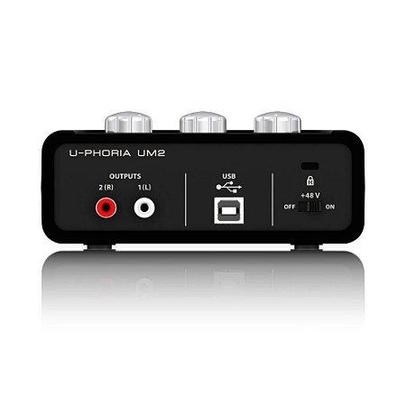 Interface De Audio Behringer Um 2 Uphoria - P/ Gravacao