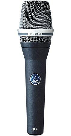 Microfone AKG D7 Vocal Mic - Supercardióide Azul-Escuro