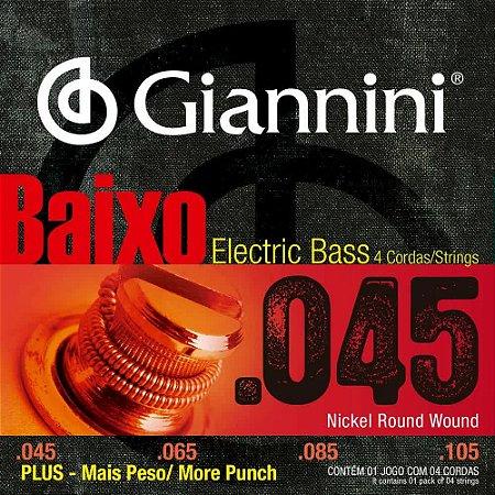 ENCORDOAMENTO P/ BAIXO GIANNINI GEEBRSP 4 CORDAS SUPER 0.045