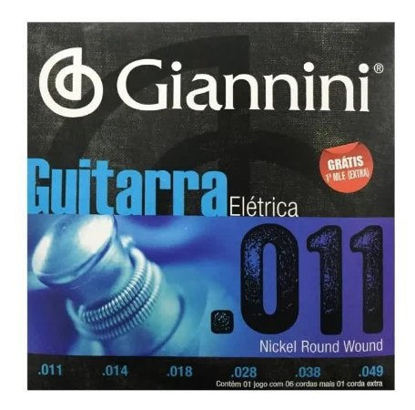 "ENCORDOAMENTO P/ GUITARRA GIANNINI GEEGST11 NIQUEL 0.011"""