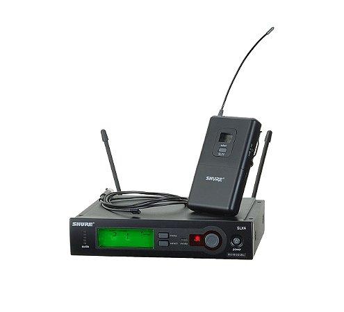 MICROFONE SEM FIO SHURE SLX14 LAPELA SLX14BR/93 J3