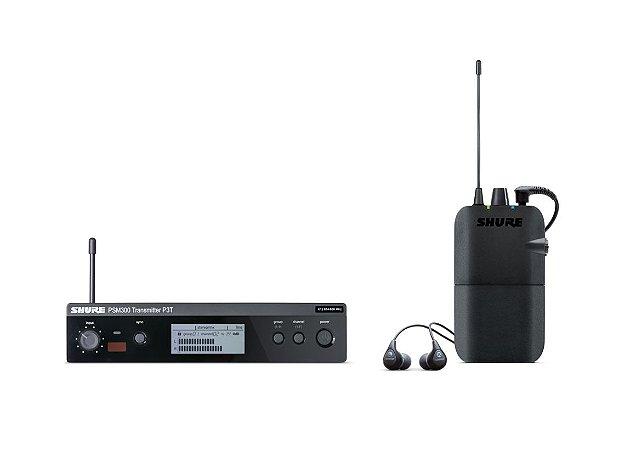 Sistema In Ear Monitor Shure S/Fio PSM300 P3T Fone se112 J13